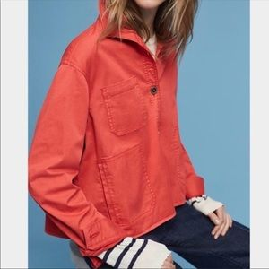 CHINO BY ANTHROPOLOGIE SWING CORAL JACKET SIZE S.